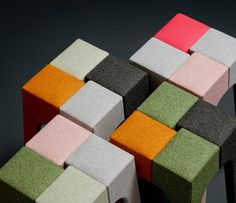 upholstered jib stools by peter marigold for kvadrat divina exhibit