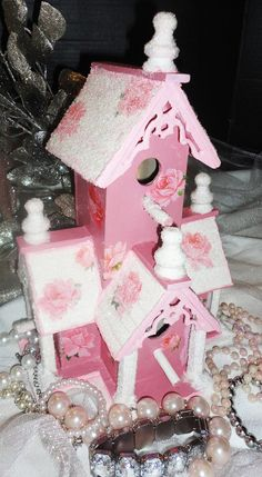 Shabby  Birdhouse   http://www.etsy.com/listing/86932793/shabby-birdhouse-spring-decoupage-roses?utm_source=Pinterest_medium=PageTools_campaign=Share