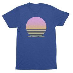 Totally Radical vintage Sunset heather blue t shirt