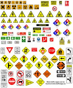 Ideal for your modern or post apocalyptic city terrain, these road and hazard signs are great. Train Ho, Post Apocalyptic City, Escala Ho, Vitrine Miniature, Bullet Journal Printables, Model Train Layouts, Paper Models, Signs, Model Trains