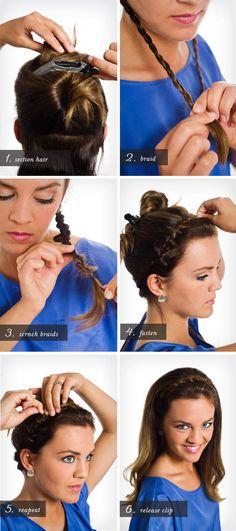 Pretty Simple :: BRAIDED HEADBAND #hairstyle #tutorial #pictorial #hairdo - bellashoot.com