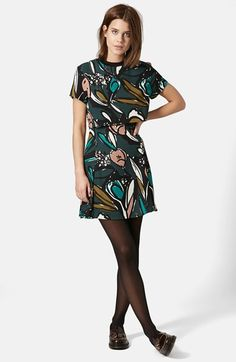 Topshop Floral Overlay Dress available at #Nordstrom