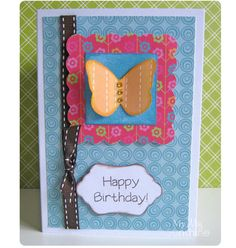 Simple butterfly birthday card