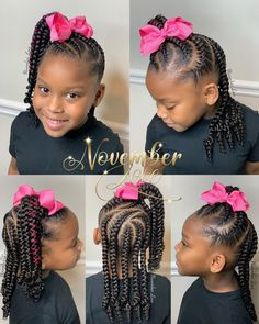 Little Girl Braid Hairstyles, Little Girl Braids, Natural Hairstyles For Kids, Natural Hair Styles For Black Women, Kids Braided Hairstyles, Cute Girls Hairstyles, Toddler Braids, Braids For Kids, Toddler Hair