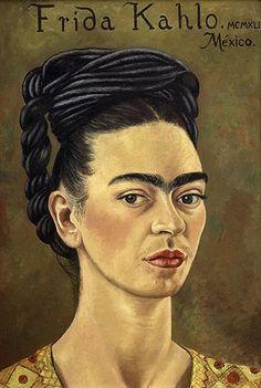 Frida Kahlo, Self Portrait with Red and Gold Dress, 1941  Photograph: © 2011 Banco de México Diego Rivera Frida Kahlo Museums Trust, Mexico, D.F. / DACS.