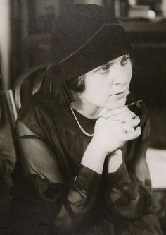 Elsa Triolet, 1924 -by Alexander Rodchenko [Elsa Triolet was the first translator of Vladimir Mayakovsky]