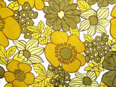 Pair of 1960s Retro Flower Power Curtains by GoodnightPrudence, £25.00