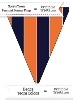 Bears Colors Pennant Banner Flag from PrintableTreats.com