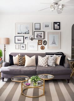 Fun and Feminine Gallery Wall