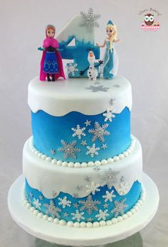 Frozen cake, ana cake, elsa cake, olaf cake, snowflake cake