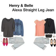 Henry & Belle Alexa Straight Leg Jean