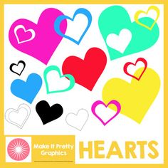{Free} Hearts Clip Art Set - great for Valentines Day, Mothers Day and moreI thought Id share some love by making this free set of colorful hearts.There are 16 PNG files in this set, including color and line art hearts.Id be forever grateful if you took a few seconds to leave me your feedback.