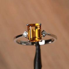 Fashion Rose Gold Filled ROUND CUT CITRINE pierre Femmes Bague De Fiançailles Taille 6-10