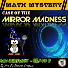 This measurement math mystery will engage and motivate your students! Students will be covering a variety of measurement skills to solve the Case of the Mirror Madness. Both US Customary and Metric Options provided for you to choose from in the download.