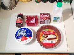 Chocolate Raspberry Pudding Pie ingredients