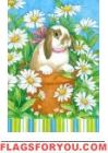 Peekaboo Bunny Garden Flag