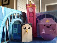 Cute paper craft Adventure Time scene!