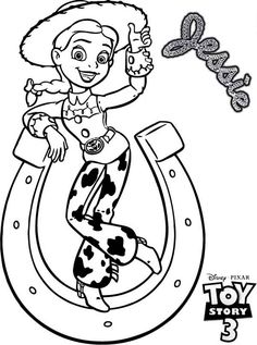 jessie the show coloring pages - photo#27