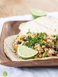Slowcooker Black Bean and Barley Burritos #vegan #crockpot #recipe