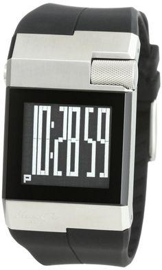 Kenneth Cole New York Mens KC1742 Digi-Tech Digital Roller-Ball Polyurethane Watch