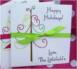 Personalized Holiday CD Holders - Lottery Ticket Holders