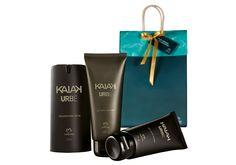 Presente Natura Kaiak Urbe - Desodorante Spray + Gel para Barbear + Gel após Barba + Embalagem Desmontada