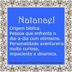Significado do nome Natanael   Significado dos Nomes