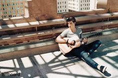 The most surprising thing about Shawn Mendes is how unassumingly normal the Canadian teenager is. Sitting in the Manhattan offices of Island Records in March, the 16-year-old singer-songwriter looks like he could be working at the local Aeropostale: He's dressed in a black-and-white flannel button-down with acid-washed jeans and black Nikes. He's tall for his age -- 6-foot-2 -- but otherwise, unfailingly polite and attentive.