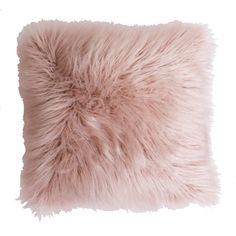 Features:  -Dyed to match micro mink back.  -Material: Acrylic faux fur cover with polyester fill.  Product Type: -Throw pillow.  Style: -Glam.  Shape: -Square.  Cover Material: -Acrylic.  Fill Materi