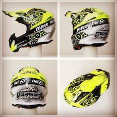 2016 collection so far.......this one for Marcus Dorsch. #wepainthelmets #helmetporn #helmetpaint #helmetdesign #hok #ppg #iwata #fbstape #airohhelmet by aerografikinfo