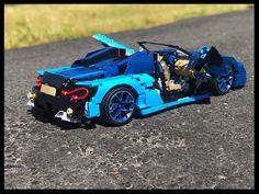 Maclaren B model of the Bugatti kit by Dugald And Lachlan Lego Racers, Lego Moc, Diecast Model Cars, Lego City, Lego Star Wars, Bugatti, Legos, Super Cars, Creations