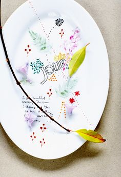 Get yourself some Pebeo markers and paint on plain white plates to your hearts content!