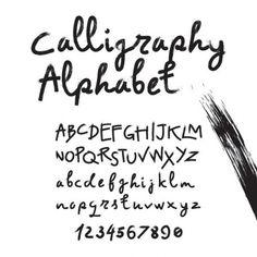 alphabet calligraphie moderne - Recherche Google
