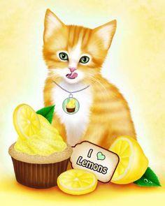 """Lemon Cupcake Kitten"" par Melissa Dawn"