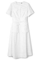 <p>The PC Play Dress is ashort-sleeved shirt dress with a waist belt for a feminine touch. It has an A-line skirt that falls in a relaxed, loose silhouette. Details such as four flap pockets - two breast pockets and two skirt pocketsanda zip-closure in the back. </p><p>- Size Small measures 94 cm around chest and 124 cm in back length. Sleeves are 25 cm in length.</p>