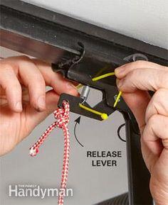 Garage Security Tips - lock garage door manual release lever Garage Door Security, Garage Door Lock, Home Security Tips, Wireless Home Security Systems, Safety And Security, House Security, Diy Garage, Garage Storage, Garage Door Maintenance