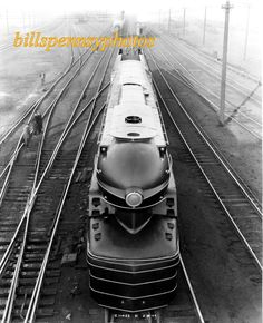PRR Locomotives S1 No. 6100 Class 6-4-4-6 Duplex Photograph E.11453 dated 2-8-39 Altoona Shop Yard