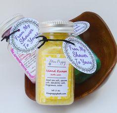 10 Bath Salt Favors Bridal Shower Favors Mini Bath Salts by BluePoppyBath | Etsy