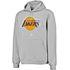 fe10922a274531 adidas Los Angeles Lakers Logo Pullover Hoodie Sweatshirt - Gray