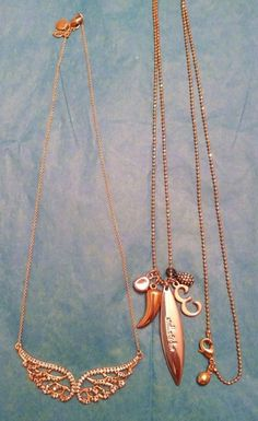 Stella and Dot Bellissimo Angelo Necklace & Third Time's A Charm Necklace #StellaDot #Charm #necklace #fashion #angel #charm #jewelry #ebay