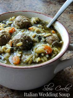 Easy Slow Cooker Italian Wedding Soup for Dinner