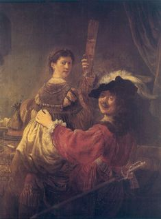 Rembrandt and Saskia in the Scene of the Prodigal Son in the Tavern by Rembrandt van Rijn