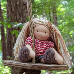 Check out this cutie by ATH! - Lisa 10 inch AppleTreeHouse Ragdorf Doll Waldorf by AppleTreeHouse. $135.00 USD, via Etsy.
