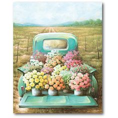 Bring a casual, handcrafted touch to your home decor with the Floral & Botanical wrapped canvas from Courtside Market. Colorful and stylish, this canvas material design will go great in any room. Canvas Frame, Framed Wall Art, Canvas Wall Art, Diy Painting, Painting On Wood, Decoupage, Flowers For Sale, Home Decor Wall Art, Canvas Material