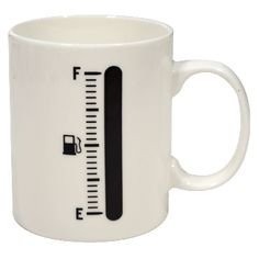 Coffeeeeee. The gauge fills up as you pour your hot coffee. Fuel up!