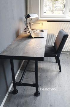 Pipe Furniture, Man Cave, Office Desk, Corner Desk, Room, Home Decor, Wall Desk, Hanging Files, Cabin