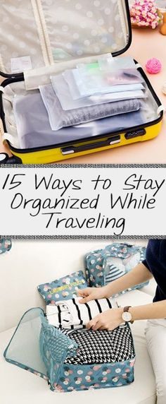 15 Ways to Stay Organized While Traveling - Organization Jun.- 15 Ways to Stay Organized While Traveling – Organization Junkie Slideshow, but s… 15 Ways to Stay Organized While Traveling – Organization Junkie Slideshow, but still good - Vacation Packing, Packing Tips For Travel, New Travel, Travel Advice, Travel With Kids, Travel Essentials, Travel Style, Travel Hacks, Packing Hacks