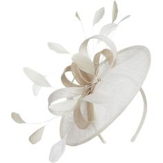 CC Bow disc fascinator ($86) ❤ liked on Polyvore featuring accessories, hair accessories, hats, fascinator, hair, fascinator headband hat, bow headband, head wrap headband, hair bow accessories and satin headband