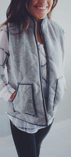 New Colors - Must Have Herringbone Vest | Quick Ship