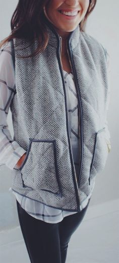 New Colors - Must Have Herringbone Vest | Quick Ship